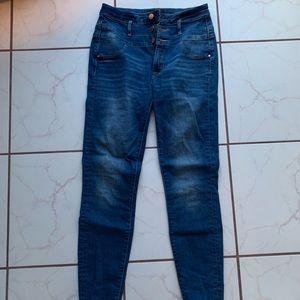 High Waisted Refuge Medium Wash Jeans